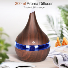 300ml USB Air humidifier Electric Aroma air diffuser wood Ultrasonic Essential oil Aromatherapy cool mist maker for home Car