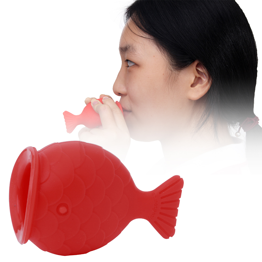 Women Bigger Cute Soft Silicone Mini Fish Shape Suction Tools Enlarger Lip Pump Non Toxic Plumper Enhancer Sexy Natural Portable