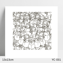 AZSG Snowman lovely Clear Stamps For DIY Scrapbooking/Card Making/Album Decorative Silicone Stamp Crafts