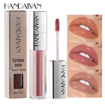 HANDAIYAN Moisturizer Lip Gloss Sexy Lips Makeup Ice Cream Wet Glosses Waterproof Lips Beauty Cosmetics Matte Liquid Lipstick 1