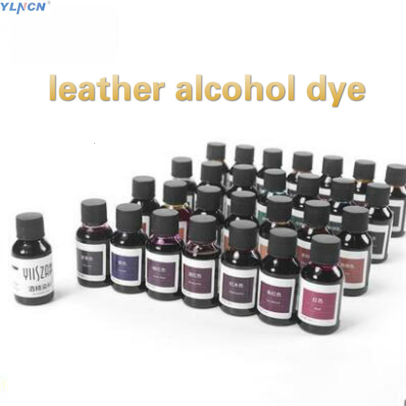 American Import Leather  Alcohol Dyestuff Dyeing Agent Diy Handmade Colorant 30ml Leather Craft Dye Paint 29 Colors Carving