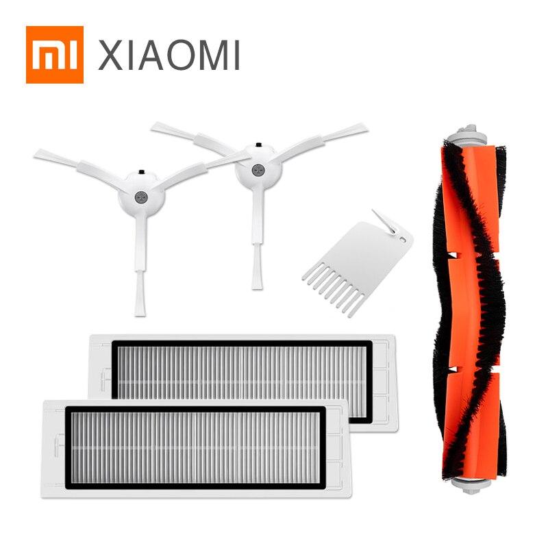 XIAOMI MIJIA Robot aspirateur 1 1S 2 Roborock S5 pièces de rechange dorigine Pack Kits filtre HEPA rouleau latéral brosse à Main vadrouille mur