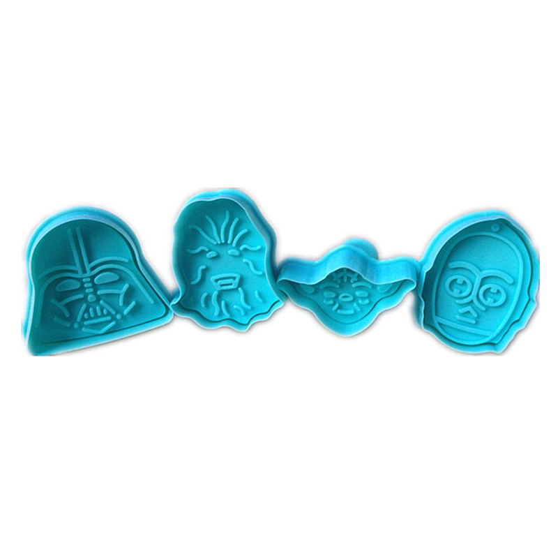 star wars character shaped fondant decorating pastry cookie mold and cutter tools