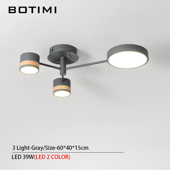 BOTIMI Home Decor LED Ceiling Lights For Living Room Round Metal Ceiling Lamps Surface Mounted Dining Lustres Bedroom luminaires 17