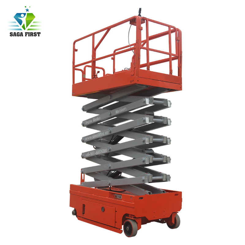Hydraulic Movable Scissor Lifts For Aerial Works
