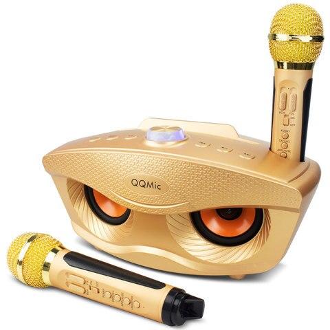 20 w maquina de karaoke portatil pa sistema alto falante para criancas adultos com luzes