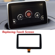 7Inch Contact Screen Panel Glass Digitizer for 2014 2015 2016 Mazda 3 Radio Navigation 7inch BHP1611J0D YPDMYF-14E800-AE