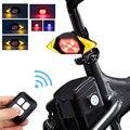 Умный велосипедный поворотный сигнал  велосипедный задний фонарь  Интеллектуальный USB велосипедный перезаряжаемый задний фонарь с дистанц...