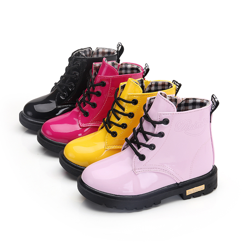 Kids Leather Boots Boys Shoes Spring Autumn PU Children Boots Fashion Toddler Girls Warm Winter Boots