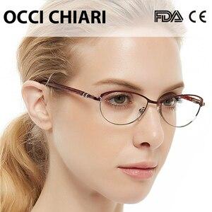 Image 3 - OCCI CHIARI Vintage Metal Computer Anti blue Ray Glasses Women Clear Eyeglasses Frame Cat Eye Diamond Eyewear Mother Gift COMIN