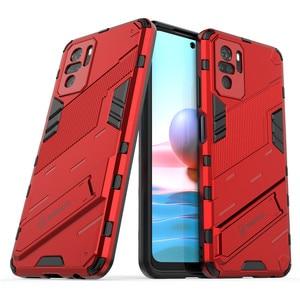 Image 2 - PUNK etui na telefon do Xiaomi Redmi Note 10 etui na Xiaomi Note 10 okładka pancerz PC odporny na wstrząsy silikonowy zderzak ochronny do Note 10