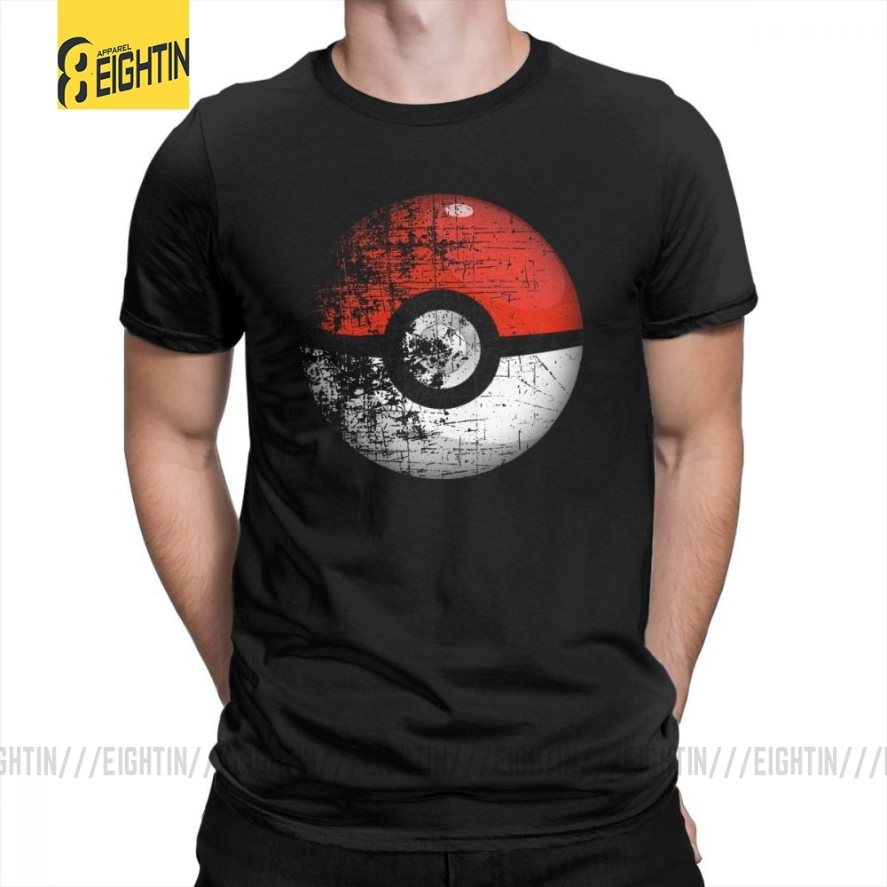 Destroyed Pokemon Go Team Red Pokeball Leisure T Shirts Man Short Sleeved Tops New Tees Purified Cotton O Neck T-Shirts image