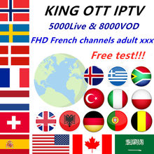 World King OTT IPTV subscription Europe IPTV French Spain Arabic UK Nordic Portugal IPTV M3U for android tv box smart box PC(China)