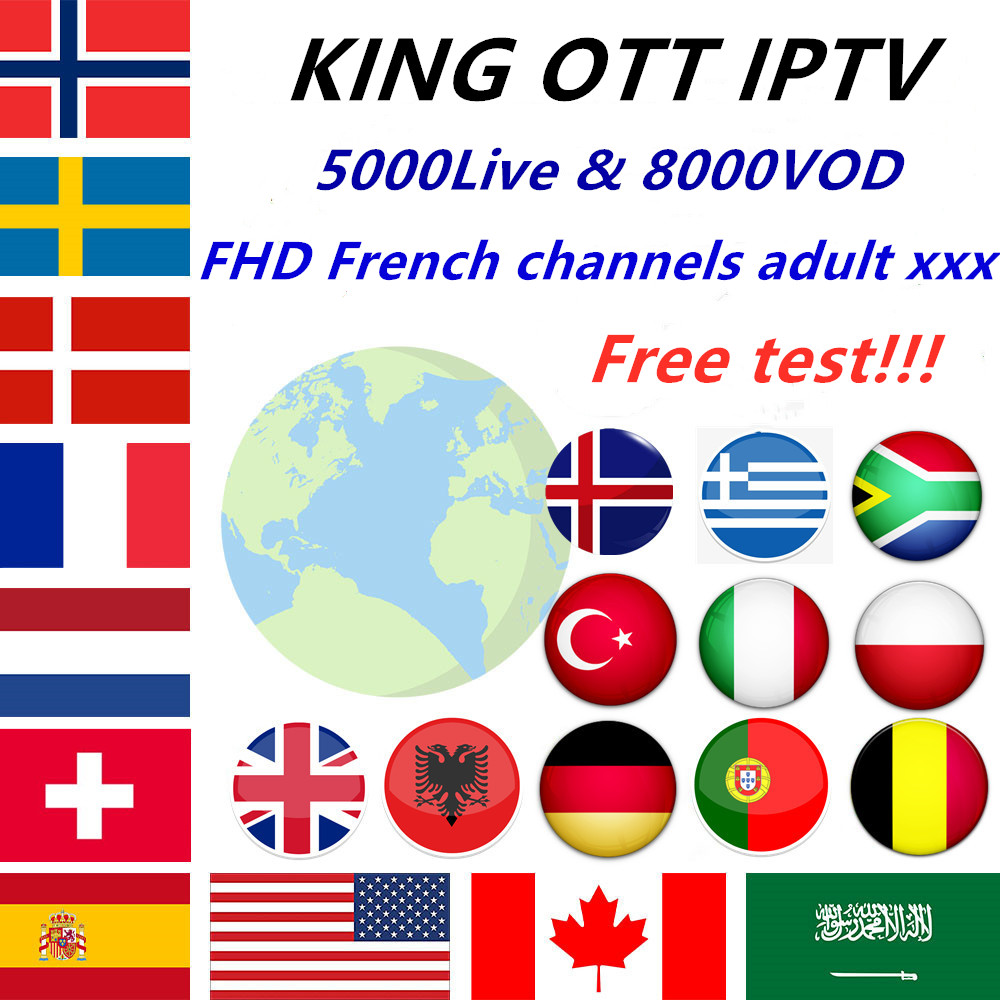 World King OTT IPTV Subscription Europe IPTV Frh Spain Arabic UK Nordic Portugal IPTV M3U For Android Tv Box Smart Box PC