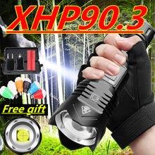 900000 lm xhp99 più potente ha condotto la torcia elettrica della torcia usb ricaricabile torce tattiche 26650 lampada in mano per la Caccia di Campeggio