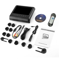 New 9 Backseat Monitor HD Digital LCD Screen Car Pillow Bracket Headrest Monitor DVD/USB Player IR FM Transmitter