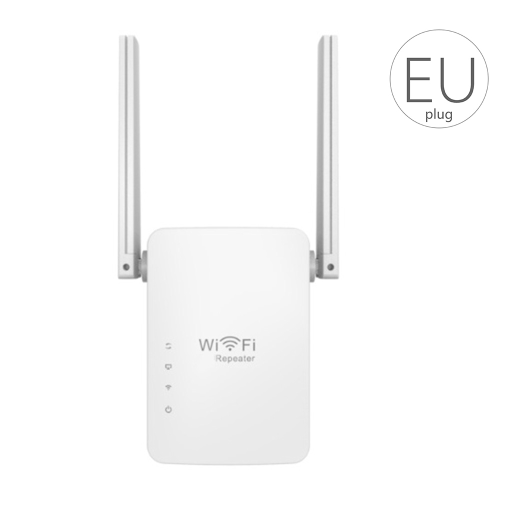 EU Plug Wifi Repeater 2 Antennas Wireless Wifi Range Extender Booster 300Mbps Router Wall Wifi Signal Booster