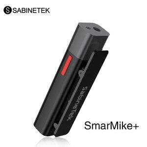 SabineTek SmartMike + беспроводной микрофон Lavalier, перезаряжаемый bluetooth-микрофон с отворотом, шумоподавление для iPhone Android