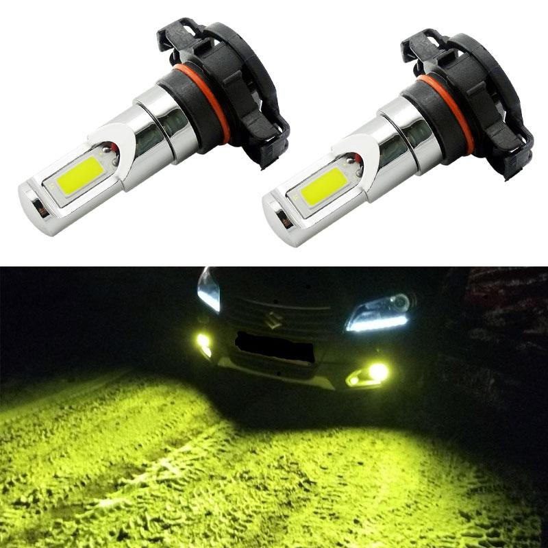 VANSSI-bombillas de luz antiniebla LED, lámpara antiniebla, color amarillo limón, PSX24W, 2 uds., 2504, DC12-24V, 1 año de garantía