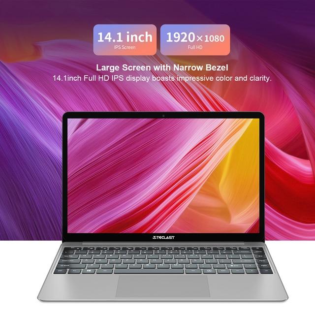 Teclast F7 Più Il Computer Portatile 14 inch 8GB di RAM SSD DA 256GB Finestre 10 Intel Gemini Lago N4100 Quad Core 1920x1080 Ultra Sottile Notebook
