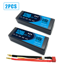 цена на 2PCS DXF RC battery Lipo 2S 7.4V 5200mah 100C 200C 4.0mm Hardcase For  Slash 4X4 Car