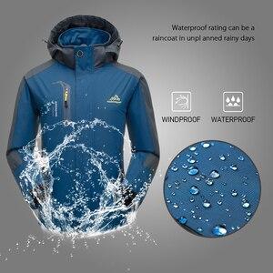 Image 3 - Lixada屋外ウインドブレーカークライミング防水ジャケット防風レインコートスポーツウェアサイクリングスポーツ取り外し可能なフード付きのコート