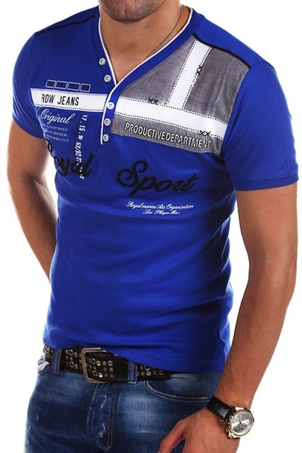 ZOGAA Men's Street Fashion Top Short Sleeved Polo Shirt Letter Printed Slim Fit Men Clothing VNeck Cotton Polo Shirts Brands Men 2