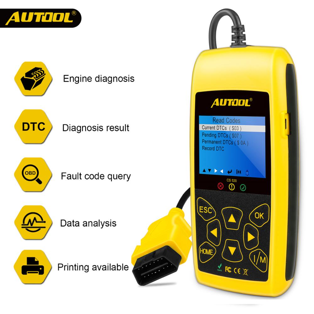 AUTOOL CS520 Car OBD 2 Code Reader CAN BUS With Digital  LED Dispaly  OBD2 Scanner Automotive Diagnostic Tool