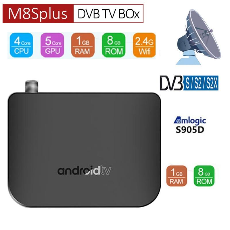 DVB-T2 Android 7.1 WiFi TV Box Amlogic S905D 1G ROM 8G RAM 2.4G 100M Youtube 4K H.265 DVB T2 Mini Thin M8S Plus DVB Media Player