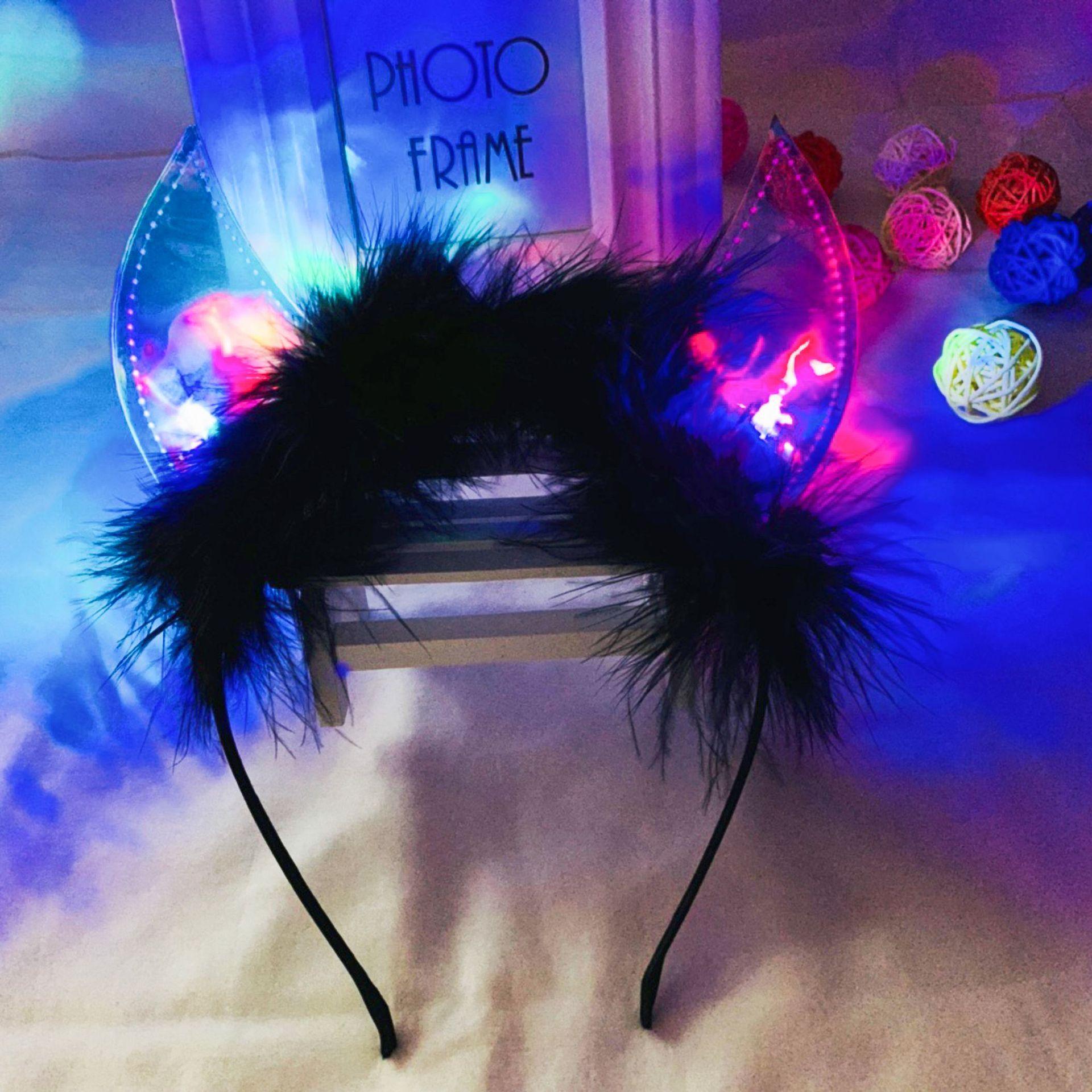 LED Eyelashes Light Up Flashing Fashion Lashes Hen Halloween Xmas Rave Party