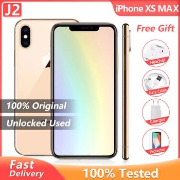 100% Original Apple iPhone XS Max Used 99% New Hexa Core Cellphone 6.5'' 4GB RAM 64/256GB ROM A13 Bionic Unlocked Smartphone 1