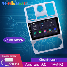 """Wekeao pantalla táctil de 9 """"1 Din Android 9,Zero Automotive Radio Automotivo para Chrysler 300C Android Auto GPS de navegación 2004-2011 WIFI 4G"""