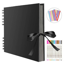 Photo Albums 80 Black Pages Memory Books A4 Craft Paper DIY Scrapbooking Picture 12 Marker