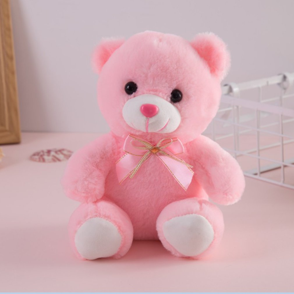 Colorful Glowing LED Flash Luminous Plush Baby Toy Light Up Stuffed Bear Teddy Bear Lovely Gift For Kids