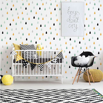 Colorful Raindrop Wall Stickers For Baby Nursery Wall Decals Kids Room Bedroom Living Room Home Decoration Decorative Stickers