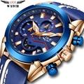 Для мужчин's Часы lige Top Элитный бренд Бизнес кварцевые часы Для мужчин, военный, спортивный стиль, с хронографом, Relogio Masculino поддержка прямой д...