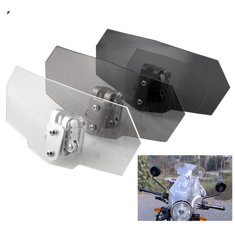 Motorcycle Durable Replacement Practical Acrylic Windshield Universal Motorcycle Accessory Adjustable Windscreen Wind Deflector