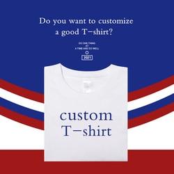 T shirt for men Design Brand Logo/Picture Custom anime Men and women DIY Cotton tops T shirt Short sleeve Casual T-shirt
