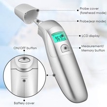 Baby Forehead Ear Thermometer Infrared Digital LCD Non-Contact Adult Children Fever IR Body Measurement CE FDA