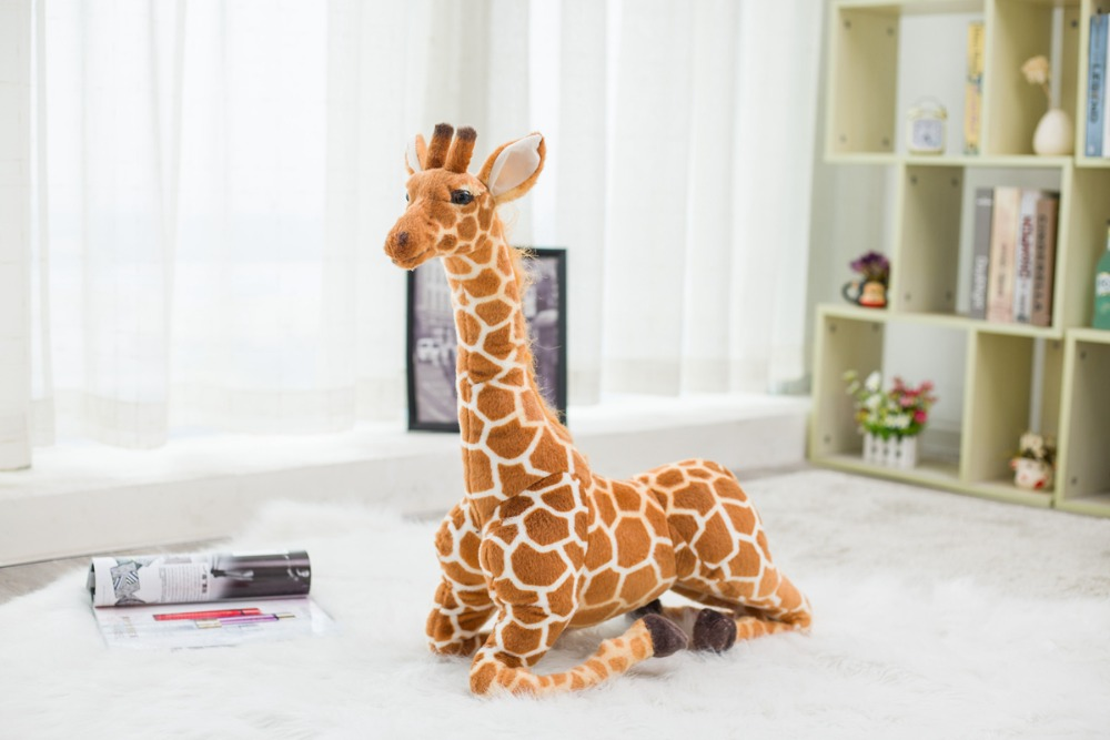 1pc 60 120cm Big Simulation Giraffe Plush Toys Cute Stuffed Animal Dolls Soft Animal Doll High Quality Birthday Gift Kids Toys in Stuffed Plush Animals from Toys Hobbies