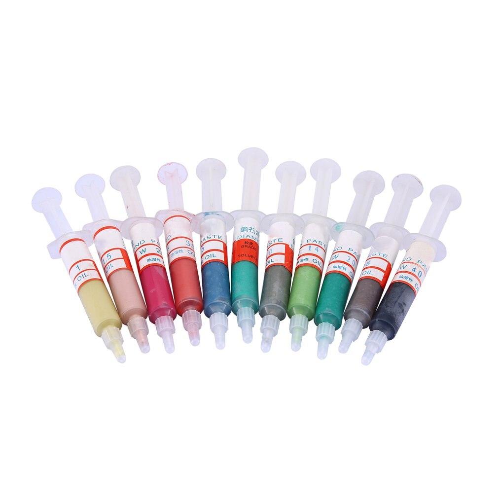 11pcs Polishing Tool Oil-Soluble Diamond Polishing Paste Compound Syringes Optional Polishing Abrasive Tools