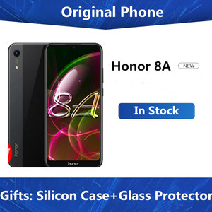 DHL Fast Delivery Honor 8A 4G Cell Phone 6.09 inch MTK6765 Android 9.0 8.0MP+13.0MP camera 3020mAh face unlock 3GB 64GB