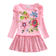 Girls Long Sleeve Dress Spring Autumn New 2~8 Years Old Child for Embroidered LH5795