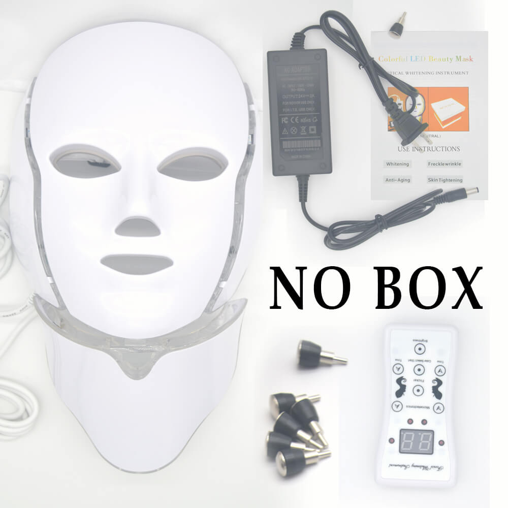 Image 3 - LED Light Facial Mask With Neck Skin Rejuvenation Face Care Photon Treatment Beauty Anti Wrinkle Acne Therapy Eu Tighten Machine-in LED Mask from Beauty & Health
