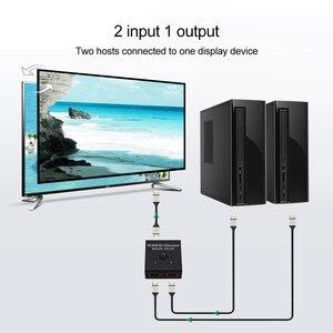 Image 2 - مقسم الوصلات البينية متعددة الوسائط وعالية الوضوح (HDMI) 2x1 1x2 UHD 4K ثنائية الاتجاه HDMI 2.0 التبديل الجلاد الفاصل محور ل PS4/3 صندوق التلفزيون HDCP ثلاثية الأبعاد HDTV محول محول