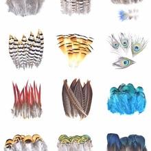 Натуральное павлинье перо перья фазана для рукоделия страусиные перья для изготовления ювелирных изделий рождественские праздничные укра...