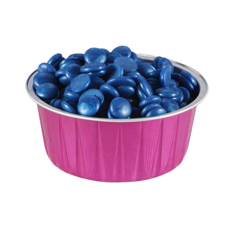 Foil Melting Wax Bean Bowls Aluminum Hair Removal Tool Round Shape 80g Capacity Reusable Insulation Container Hair Removal Cream