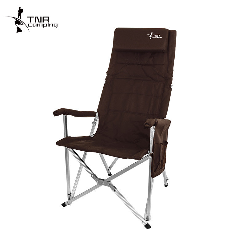 Foldable Fishing Chair 600D Oxford Camping Chair Aluminum Alloy Outdoor Chair Portable Fishing Tool 250kg Bearing 3 Colors