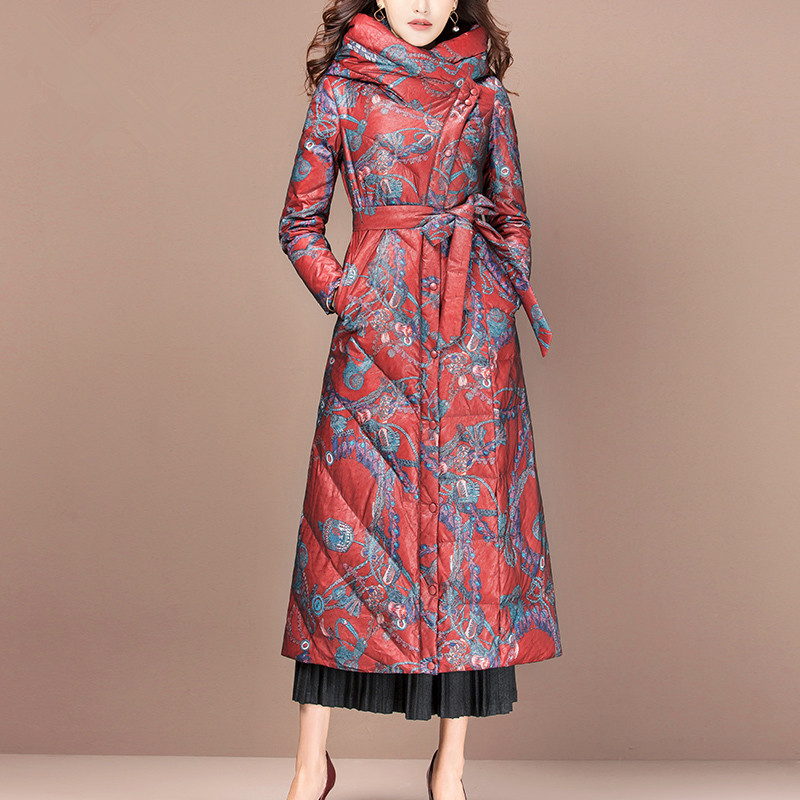Down Women's Jacket Winter Jacket Women Clothes 2020 Print Korean Long Jackets For Women Warm Parka Chaqueta Mujer MY S