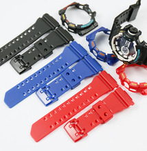 Resin strap Suitable for Casio G-SHOCK GA-400 GBA-401 men's sports watch with Plastic pin buckle (Include case) casio g shock gba 400 7c с хронографом белый